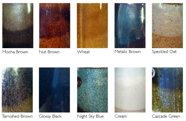 BJBC Glaze colors